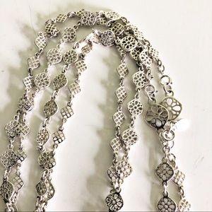 Stella & Dot Devon Layering Silver Necklace